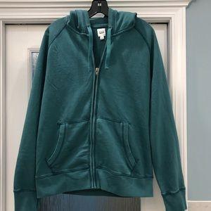 GAP NWT zip front hoodie Size L